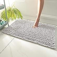Thicken Bathroom Non-Slip Mat, Door Mat, Super Absorbent Rug (2pcs),Light Gray,50x80cmx2