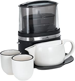 Zarafina TH1000 Tea Maker Suite with Ceramic Tea Pots, Cups, and Serving Tray