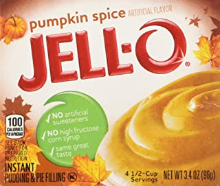Kraft Jell-O Limited Edition Pumpkin Spice Flavor Instant Pudding and Pie Filling 3.4-ounce Boxes (Pack of 4)