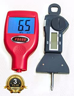 FenderSplendor FS688 Paint Meter with Digital Tire Gage, 15000 Sold. Warrantied in the USA 3 Year Exchange Warranty. Avoid $3000 Losses by Missing Paintwork.