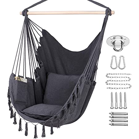 2 cushions for outdoor garden camping Hanging chair hammock swing seat