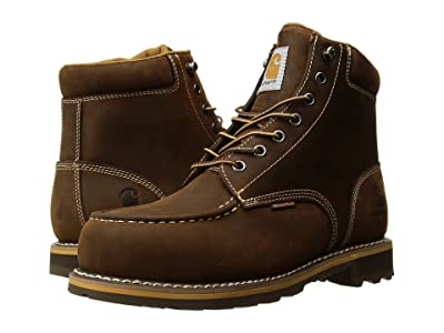 Carhartt 6 Moc Toe Lug Steel Toe (Dark Bison Oil Tanned) Men