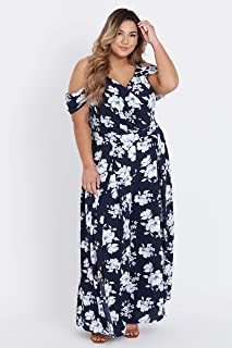 Beme Off Shoulder Floral Jumpsuit - Womens Plus Size Curvy