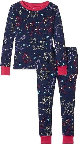 Hatley Kids - Celestial Night Long Sleeve Pajama Set (Toddler/Little Kids/Big Kids)
