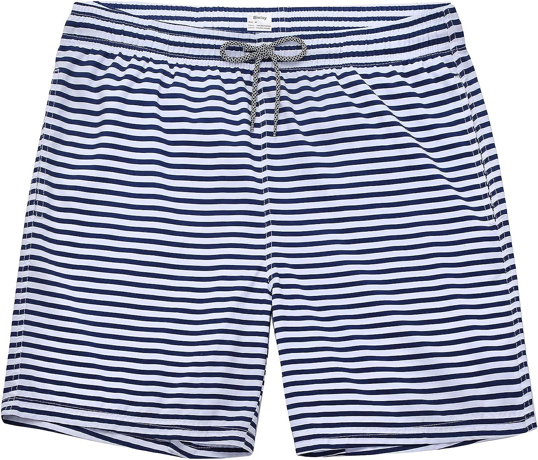 Biwisy Mens Swim Trunks Quick Rapid rise Dry F Shorts Mesh Genuine Lining with