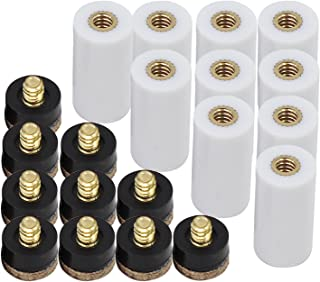 OCR 12mm Hard Brown Cue Tips Billiard Replacement Screw-on Tips with Pool Cue Stick Ferrules 10 Pcs Cue Tips (12mm Hard Brown Tips Set)