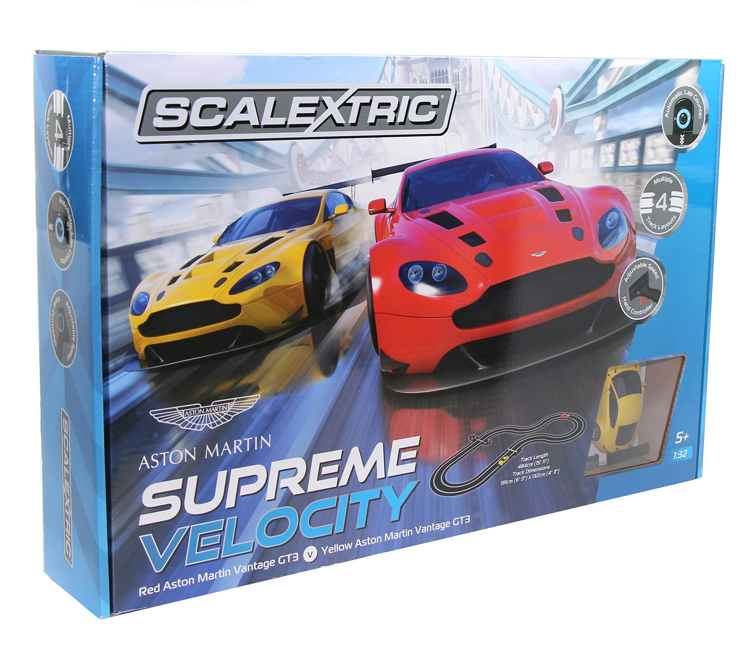 Scalextric Supreme Velocity Aston Martin Gt3 Race Car Track Set Very Hard To Find Buy Online In Bahamas At Bahamas Desertcart Com Productid 125384923