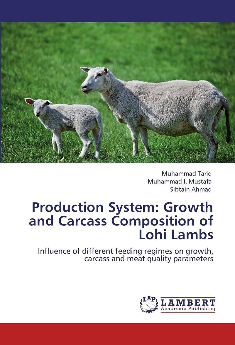 贅沢な質量成功するProduction System: Growth and Carcass Composition of Lohi Lambs