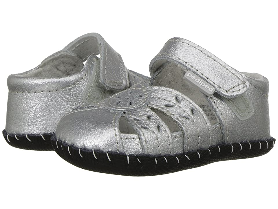 pediped Daphne Original (Infant) (Silver) Girls Shoes
