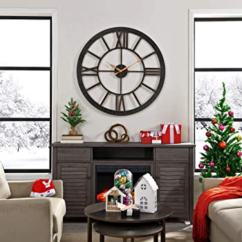 """FirsTime & Co. Big Time Wall Clock, 40"""", Oil Rubbed Bronze"""