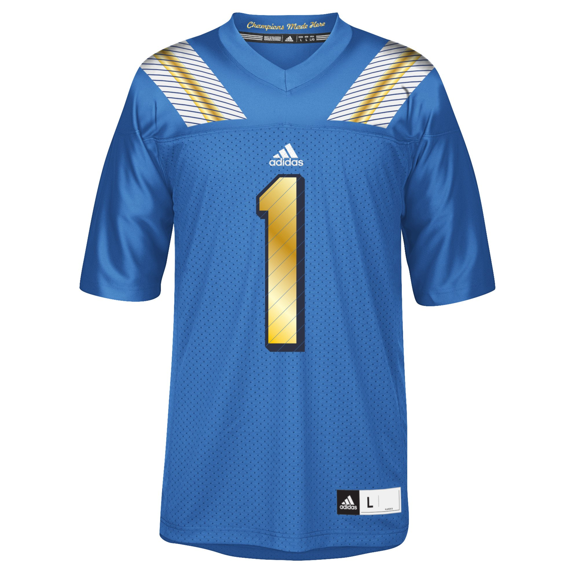 UCLA Bruins Adidas NCAA # 1 Réplica Football Jersey Camiseta – Blue, small: Amazon.es: Deportes y aire libre
