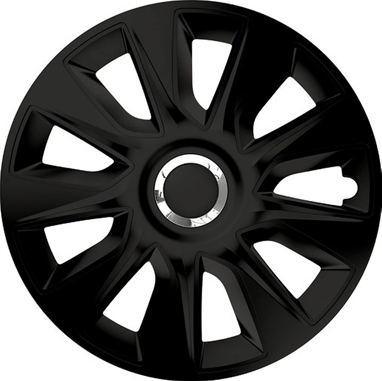 Zentimex Z744903 Radkappen Radzierblenden Universal 17 Zoll Black Auto