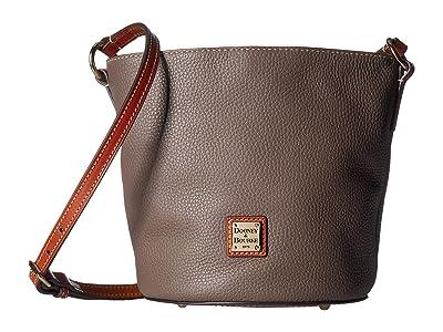 Dooney & Bourke Pebble Small Thea Crossbody (Elephant/Tan Trim) Cross Body Handbags