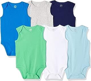 Boys' Baby 6-Pack Sleeveless Bodysuits