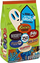 HERSHEY'S Bulk Halloween Chocolate Candy (REESE'S, HERSHEY'S, KIT KAT), Miniatures Assortment, 250 Pieces, 5lbs bag