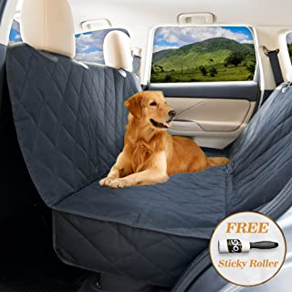 YoGi Prime Dog seat Cover for Back seat - Hammock Dog car seat Covers for Large Dogs, Waterproof, protrct Your Vehicle only with Durable Back seat Cover for Dogs - Universal fit