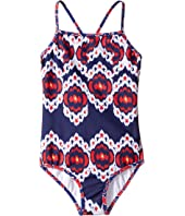 Oscar de la Renta Childrenswear - Ikat Classic Swimsuit (Toddler/Little Kids/Big Kids)