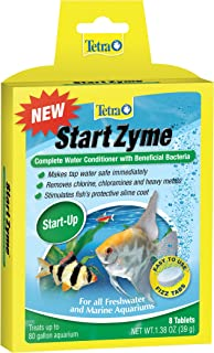 Tetra Start Zyme Water Conditioner With Beneficial Bacteria, 8-Count