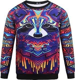 Zuckerfan Mens Womens Hoodie Unisex 3D Digital Print Pullover Long Sleeved Sweatshirts