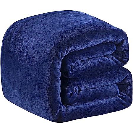 Bleu Ciel HOZY Couverture Polaire Epaisse Bebe//Adulte 220x240cm Microfibre Polyester Doux et Chaud Couvre-Lit Sofa Jete de Canape Effet Velours Facile a Nettoyer