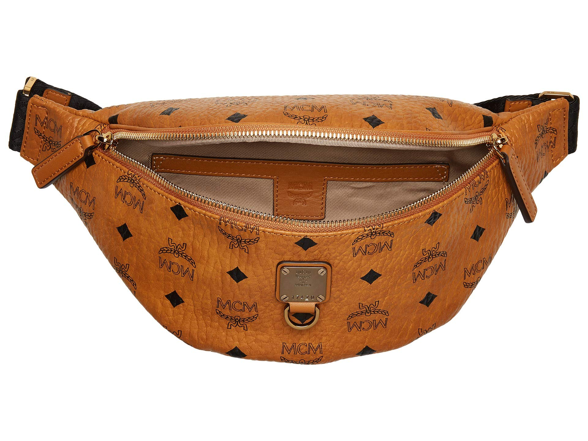 Fursten Visetos Bag Mcm Cognac Small Belt d7Uwn