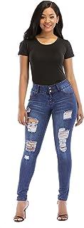 POPTIME Women's Butt-Lifting Skinny Jeans High-Rise Waist Brazilian Style