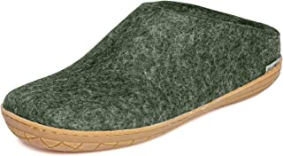 Glerups BR Unisex Women's/Men's 100% Natural Wool Shoe with Rubber Sole (48 M EU, Forest)