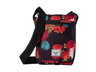 Herschel Supply Co. Lane Small (Vintage Floral Black) Messenger Bags