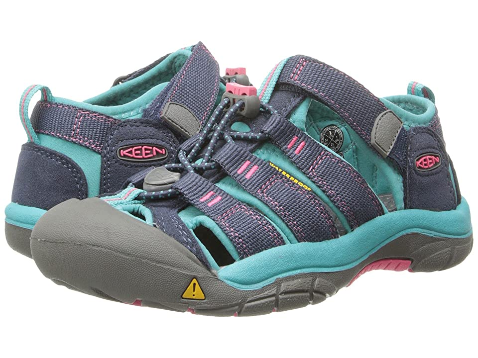 Keen Kids Newport H2 (Little Kid/Big Kid) (Midnight Navy/Baltic) Girls Shoes
