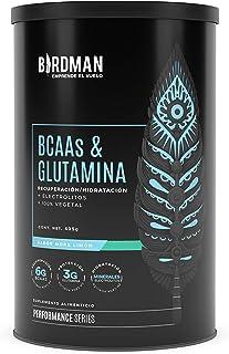 Birdman BCAAs + L-Glutamina Ratio (BCAA 2:1:1) 100% Vegetal, 0 Carbohidratos, con Vitamina B12, Minerales, Vitamina C, Sab...