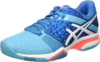 ASICS 女式 gel-blast 7W handball 鞋, BLU grigio/arancio Blue (Blue Jewel/White/Flash Coral) 5.5 UK