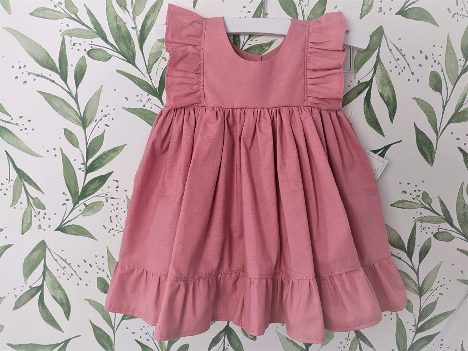 Baby Girl Cotton Dress Denver Mall Rose Max 67% OFF in