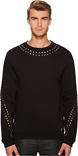 Versace Collection - Metallic X Applique Sweatshirt