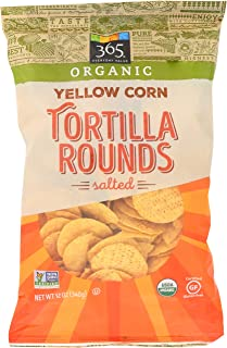365 Everyday Value, Organic Yellow Corn Tortilla Rounds, Salted, 12 oz