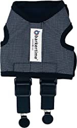 Barkertime Dog Diaper Suspender Harness - Black and White Gingham Diaper Suspender Harness to Keep Dog Diapers On - Made in USA