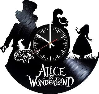 Alice In Wonderland Vinyl Record Clock Cartoon Wall Clock Alice In Wonderland Wall Art Handmade Clock Cute Clock Vintage Gift