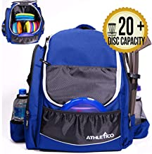 Athletico Power Shot Disc Golf Backpack   20+ Disc Capacity   Pro or Beginner Disc Golf Bag   Unisex Design