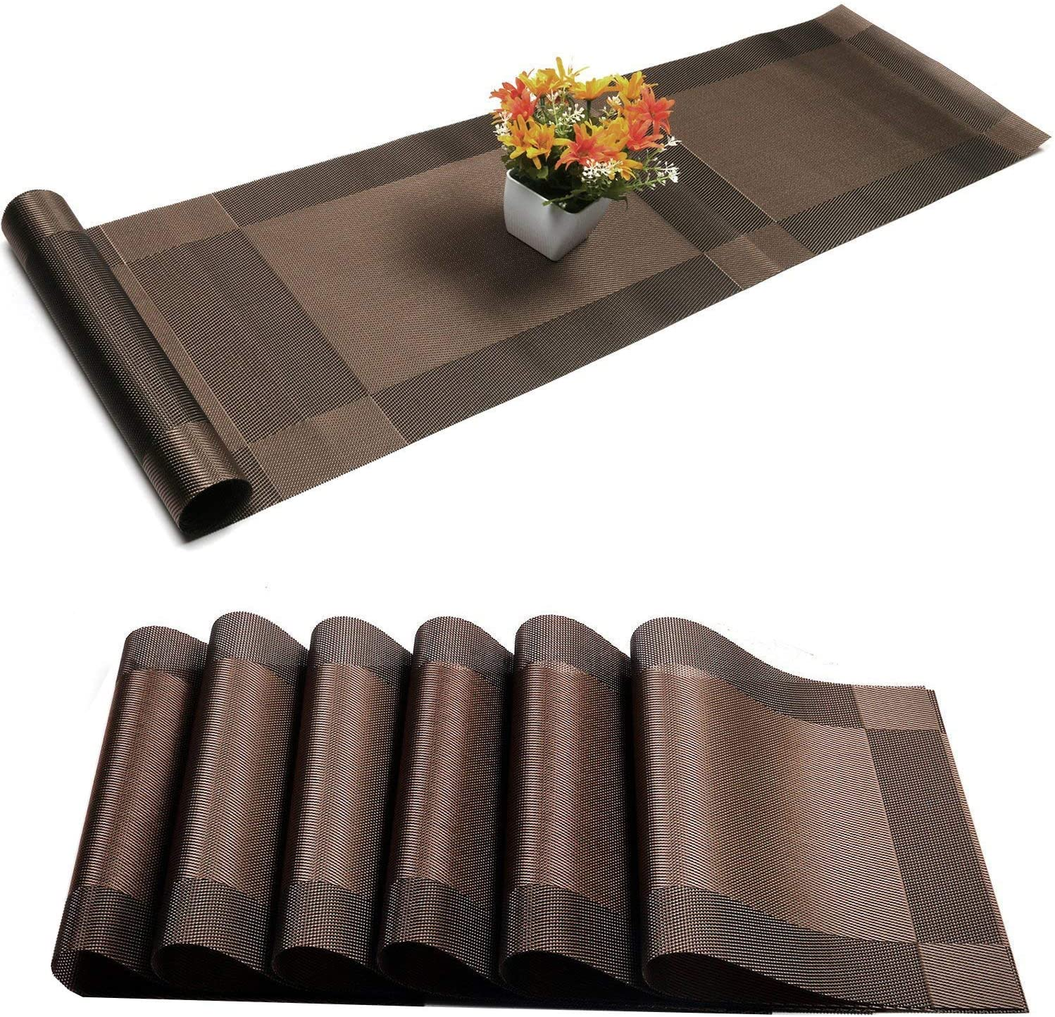 Placemats shop with Table Runner Sets Place Mats Pl Chicago Mall Woven Crossweave