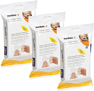 Medela Quick Clean Breast Pump and Accessory Wipes, 72 Wipes in a Resealable Pack, Convenient Portable Cleaning, Hygienic Wipes Safe for Cleaning High Chairs, Tables, Cribs and Countertops