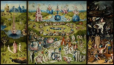 VintPrint Paintings Poster - The Garden of Earthly Delights by Bosch (High Resolution), 24