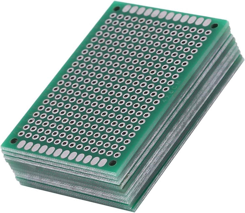 10 Piezas 5 * 7cm Doble Cara Junta de PCB Doble Cara Tarjeta Placa Prototipo Kit para Soldadura DIY Compatible con los kits Arduino