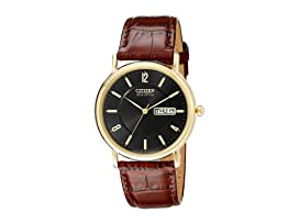 BM8242-08E Eco-Drive Leather Watch