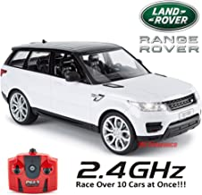 Range Rover Sports 2014 Remote Control 1:24 Scale Toy for Kids 2.4Ghz Race Over 10 Cars at Once! - White