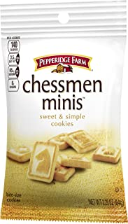 Pepperidge Farm Chessmen Minis Butter Cookies, Snack Pack, 2.25 oz. (Pack of 36)