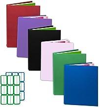 Cubiertas de Libros Kraftex [paquete de 6] Cubiertas para Libros de Tapa Dura, Libros de Tapa Blanda, Cubiertas para Libros de Texto. Lavables, Duraderas con Etiquetas Adhesivas Gratis (Pequeño)