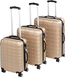 TecTake Set de 3 valises de Voyage de ABS | avec Serrure à Combinaison intégrée | poignée télescopique | roulettes 360° - ...