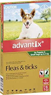 Advantix Flea and Tick Control for Puppies and Small Dogs, Green, 6 Pack