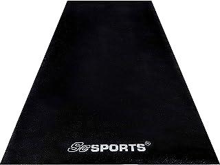 ScSPORTS Onderlegmat, beschermmat voor fitnessapparaten, loopband, hometrainer, halterbank, sporttoestellen, groot, zwart,...