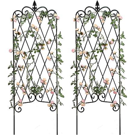 Garden Display Stand Rustproof Sturdy Black Iron Trellis Support ZTCWS Garden Obelisk Trellis for Climbing Plants Rose Vine Flower Cucumber Clematis