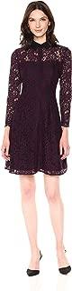 Nanette Nanette Lepore Women's Long Sleeve Lace Shirt Dress W/Contrast Collar